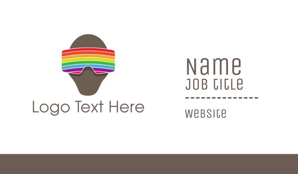 rainbow - Rainbow VR Goggles Business card horizontal design