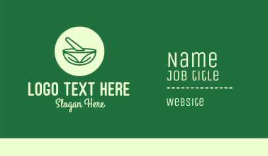 Green Natural Pharmacy Business Card