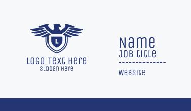 Eagle Shield Lettermark Business Card
