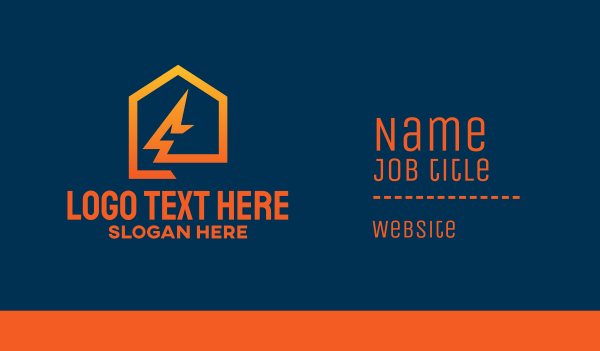 electrician - Flash House Business card horizontal design