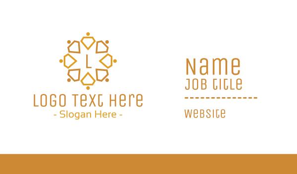welfare - Diamond Team Lettermark Business card horizontal design