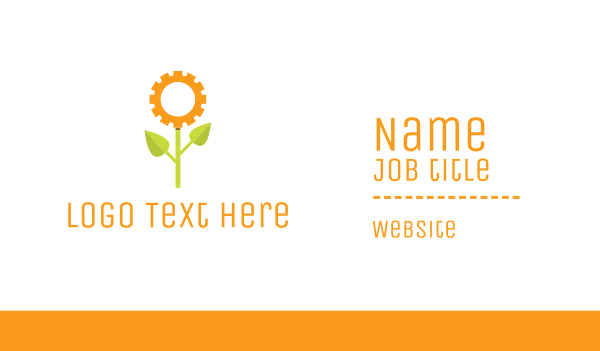 cogwheel - Gear Flower Business card horizontal design
