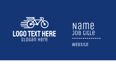 Simple Fast Bicycle Bike Business Card