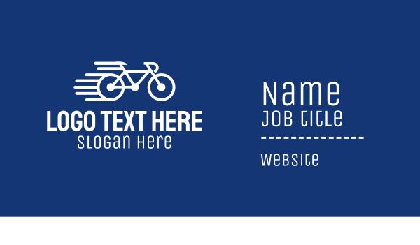 bike tour - Simple Fast Bicycle Bike Business card horizontal design