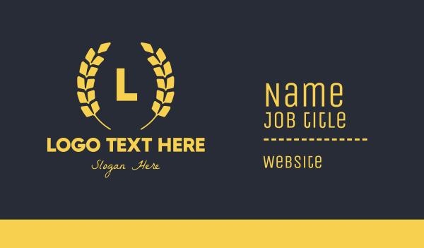 recognition - Luxurious Laurel Lettermark Business card horizontal design