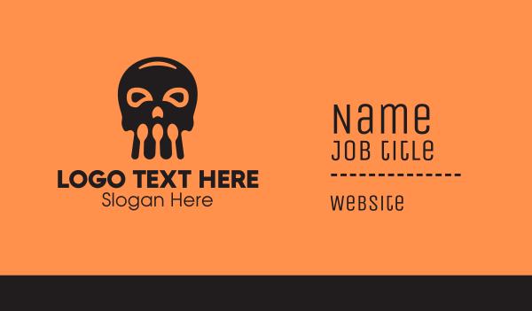 toxic - Skull Spoon Business card horizontal design