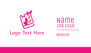 Pink Journal Book Business Card