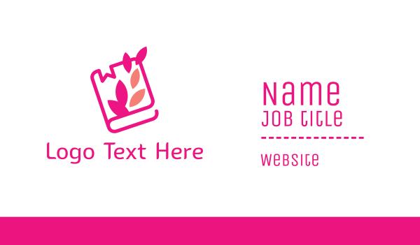 wiki - Pink Journal Book Business card horizontal design