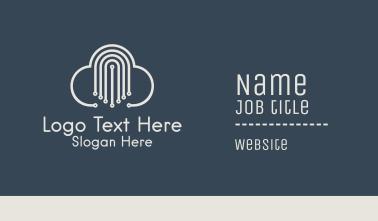 Technology Cloud Network  Business Card