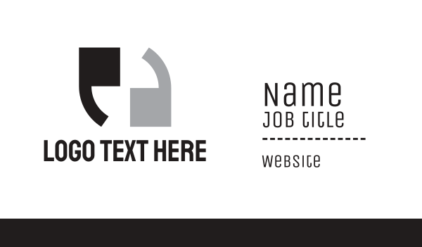 newspaper - Double Apostrophe  Business card horizontal design