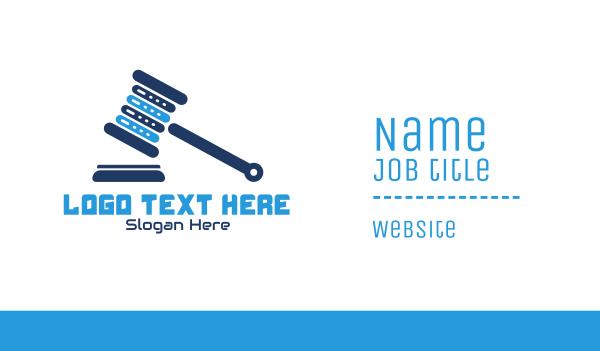 judiciary - Legal Tech Business card horizontal design