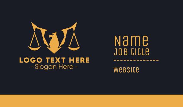 adjudicator - Golden Legal Griffin Business card horizontal design
