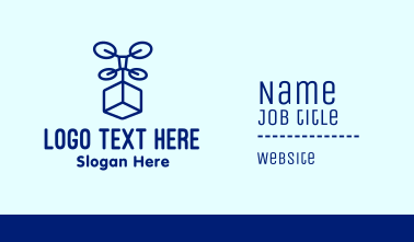 Box Drone Delivery Business Card