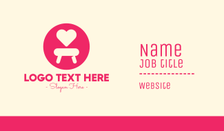Pink Love Seat Business Card