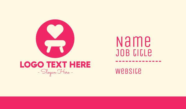 seat - Pink Love Seat Business card horizontal design