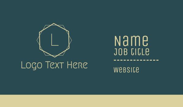 beige - Simple Minimal Art Deco Letter Business card horizontal design