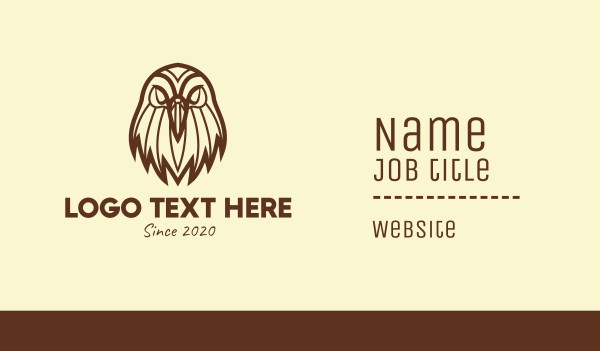 team mascot - Brown Wild Eagle Business card horizontal design