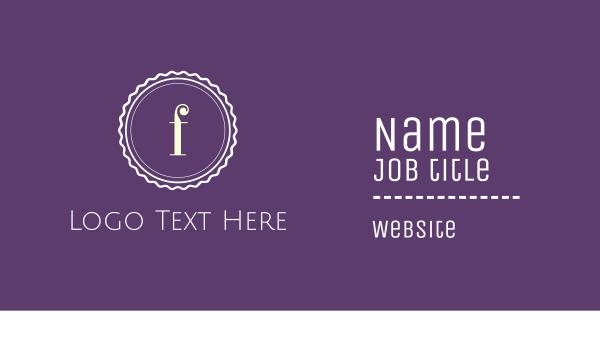 purple cupcake - Purple F Emblem Business card horizontal design