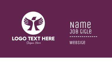 Charity Bird Hands Business Card