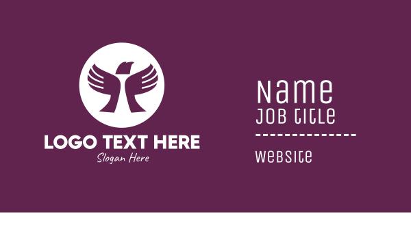 humanitarian - Charity Bird Hands Business card horizontal design