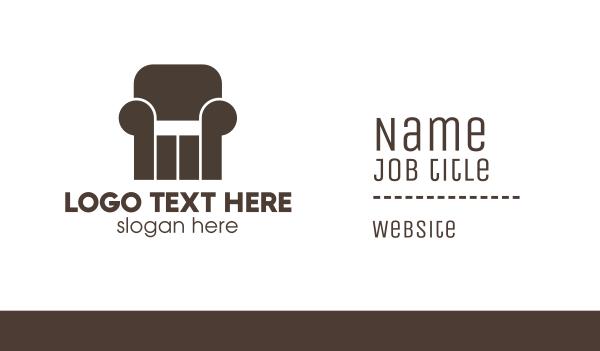 brown chair - Pillar Furniture  Business card horizontal design
