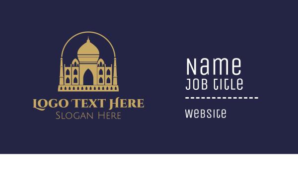 palace - Gold Indian Palace Business card horizontal design