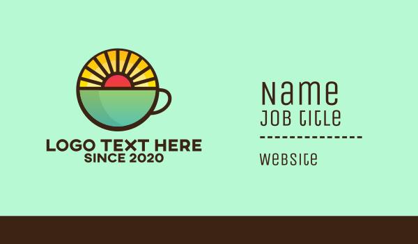 Coffee Cup Sunrise Business Card