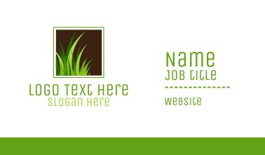 Green Grass Lawn Turf Business Card