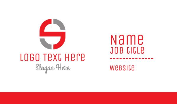 devices - Tech Letter S Business card horizontal design