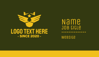 Military Pilot Golden Wings Business Card
