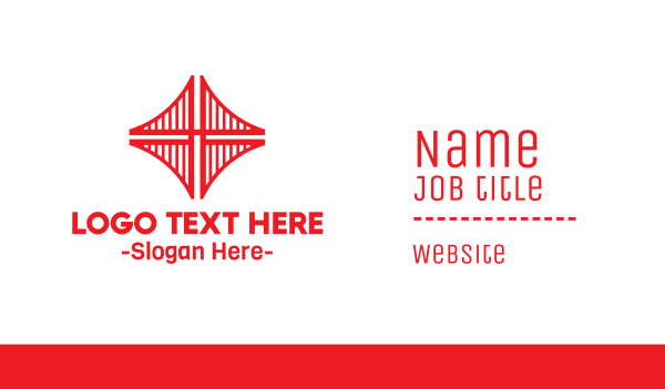 san francisco - Red Bridge Structure Business card horizontal design