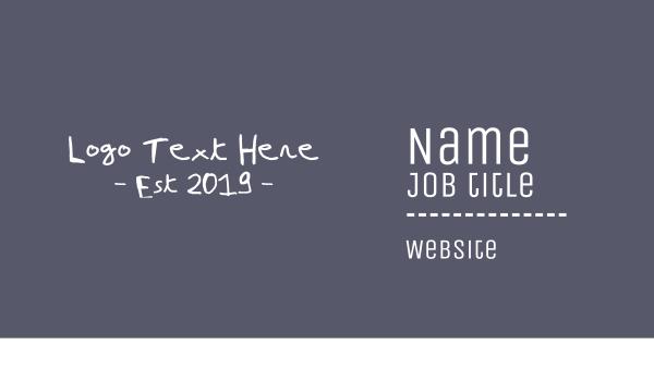 ad agency - Handwritten Text Business card horizontal design