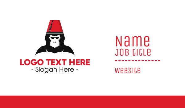 ape - Turkish Hat Monkey Business card horizontal design