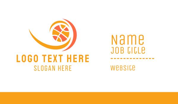 flame - Basketball Flame Business card horizontal design