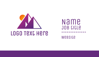 Abstract Purple Pyramid Business Card