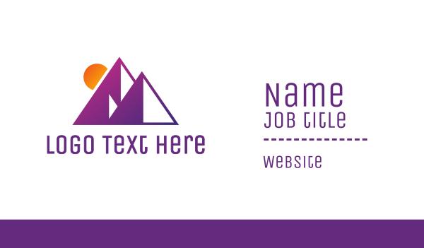 pyramid - Abstract Purple Pyramid Business card horizontal design