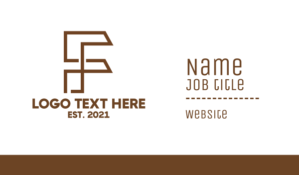 drafting - Industrial F Outline Business card horizontal design