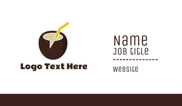 pinoy - Coco Chat Business card horizontal design