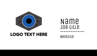 Robotic Tech Eye Business Card