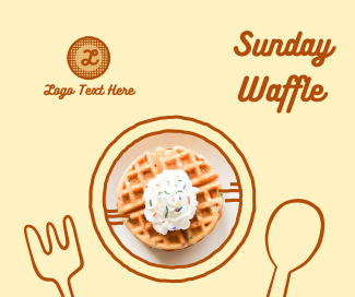 Yummy Waffle Plate Facebook post