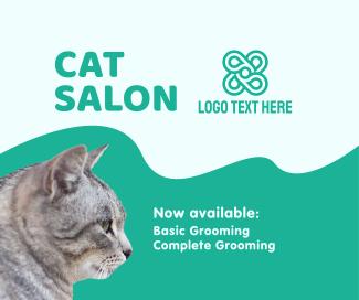 Cat Salon Packages Facebook post