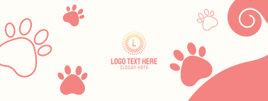 Puppy Paw Prints Facebook Cover