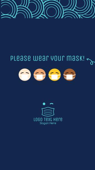 Mask Emoji Facebook story