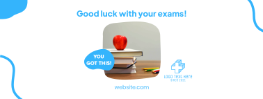 Good Luck With Your Exam Facebook cover