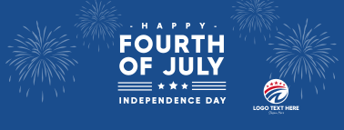 Fourth of July Fireworks Facebook cover