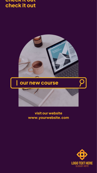 New Course Facebook story