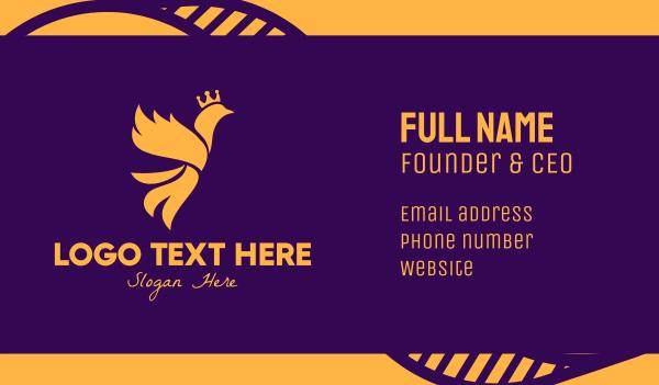 reign - Golden Royal Phoenix Business card horizontal design