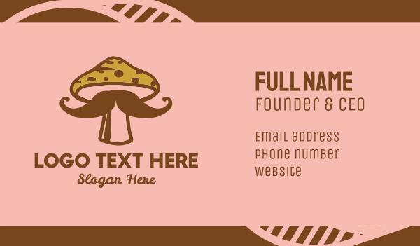 eatery - Hipster Mushroom Moustache Business card horizontal design