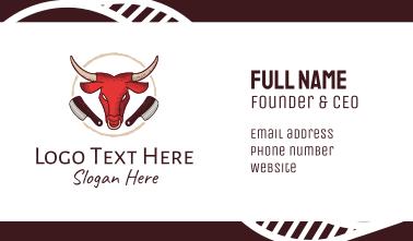 Bull Chophouse Knife Business Card