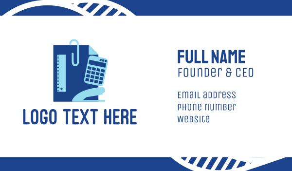 math - Stationery Supplies Business card horizontal design